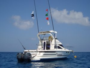 Deep Sea Fishing Boats available to charter in Zanzibar.